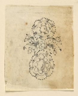 Drawing, Design for an earring, ca. 1772