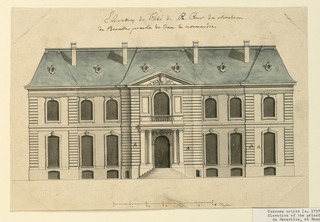 Drawing, The Front Elevation of a Villa in Benoille, 1725