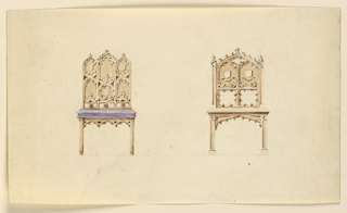 Drawing, Designs for Two Chairs in, ca. 1830