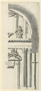 Drawing, Door and Upper Window of, 1775