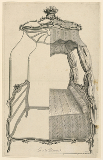 "Print, A Bed, from series ""Cahier de Lits de Diverses Modes"""