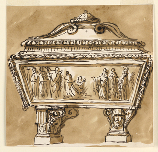 Drawing, Sarcophagus