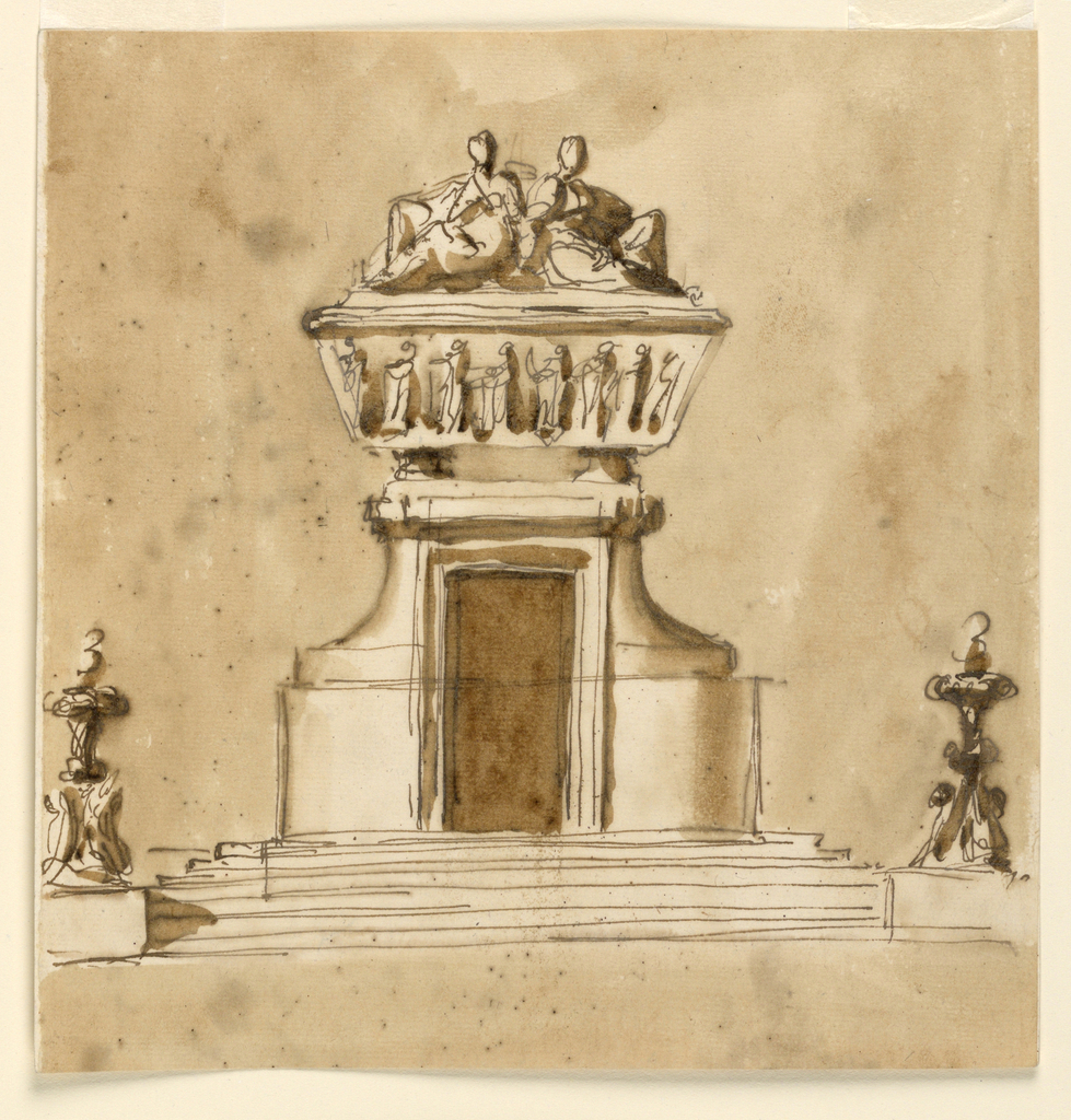 Drawing, Project for a monument