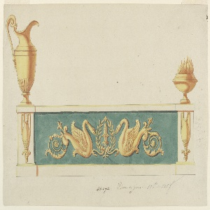 Drawing, Design for an Andiron