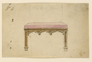 Drawing, Bench, 1830