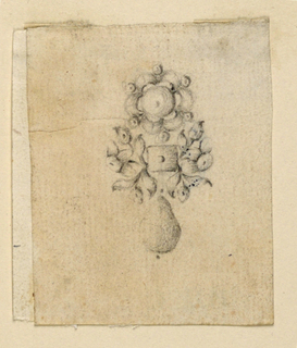 Drawing, Design for earring, ca. 1775