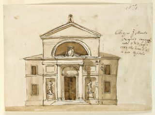 Drawing, Church, Monte Vergine