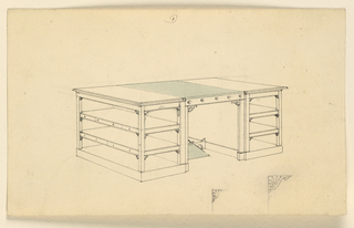 Drawing, Design for a desk, ca. 1830