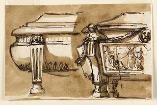 Drawing, Sarcophagi