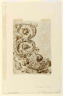 Drawing, Floral Ornament, 1650–75