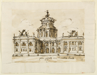 Drawing, Design for a Royal Palace