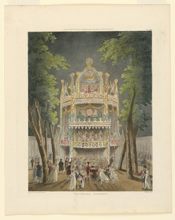 Print, Vauxhall Garden from Ackermann's Repository