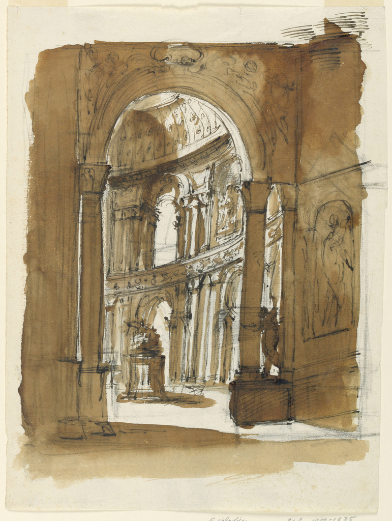 Drawing, Design for a church