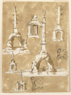 Drawing, Fountains