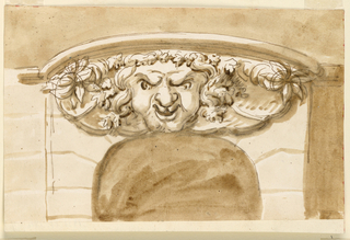 Drawing, Keystone over doorway