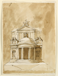 Drawing, Elevation of a church