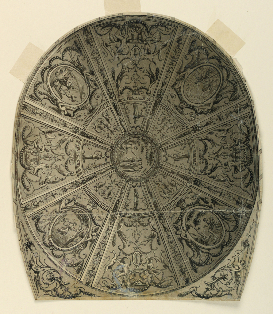 Drawing, Ceiling Design: Decoration for theater