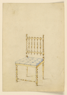 Drawing, Side chair, ca. 1830