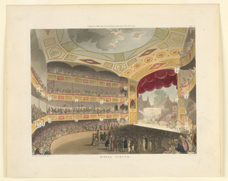 Print, Royal Circus from Ackermann's Repository