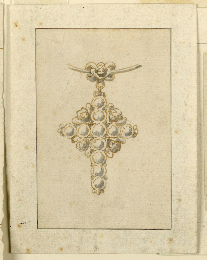 Drawing, Design for pendant in form of cross