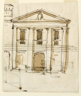 Drawing, Elevation of a house