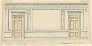 Drawing, Elevation of a wall, ca. 1905