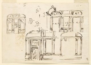 Drawing, Sections of rooms