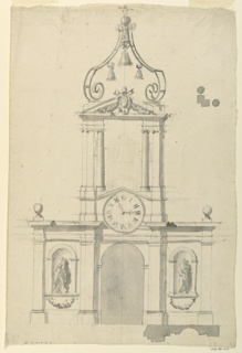 Drawing, Pavilion with Bell Tower