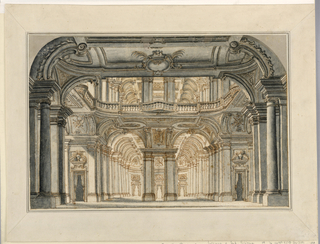 Drawing, Stage Design: Hall Leading to Vaulted Arcades
