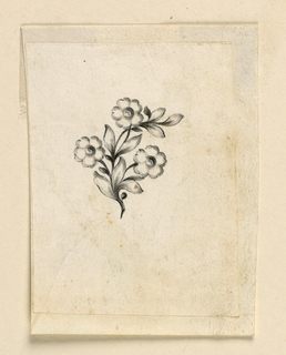 Drawing, Design for a pin, 1780–90