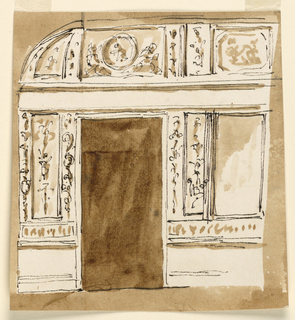 Drawing, Door side of room