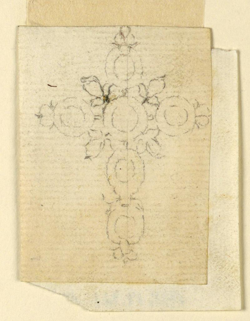 Drawing, Cross Pendant