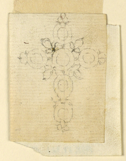 Drawing, Cross Pendant, 1770–90