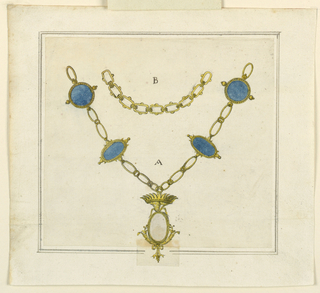 Drawing, Necklace, ca. 1810