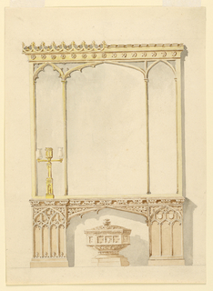 Drawing, Design for a sideboard, 1830