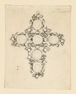 Drawing, Design for a cross as a pendant, ca. 1765
