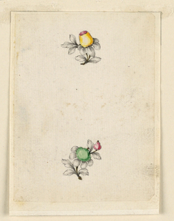 Drawing, Design for two small pins, 1770–80