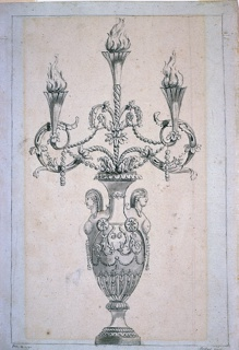Drawing, Design for a Candelabrum