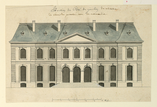 Drawing, The Rear Elevation of a Villa in Benoille, 1725