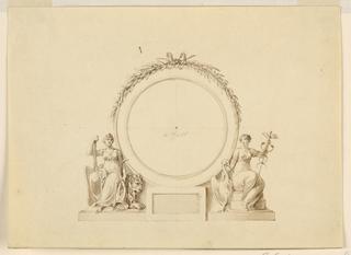 Drawing, Wall decoration, ca. 1815