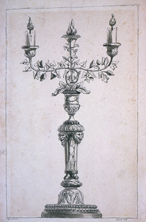 Drawing, Project for a candelabrum