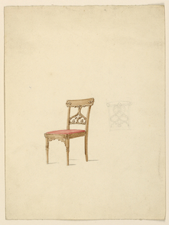 Drawing, Side chair, ca. 1840