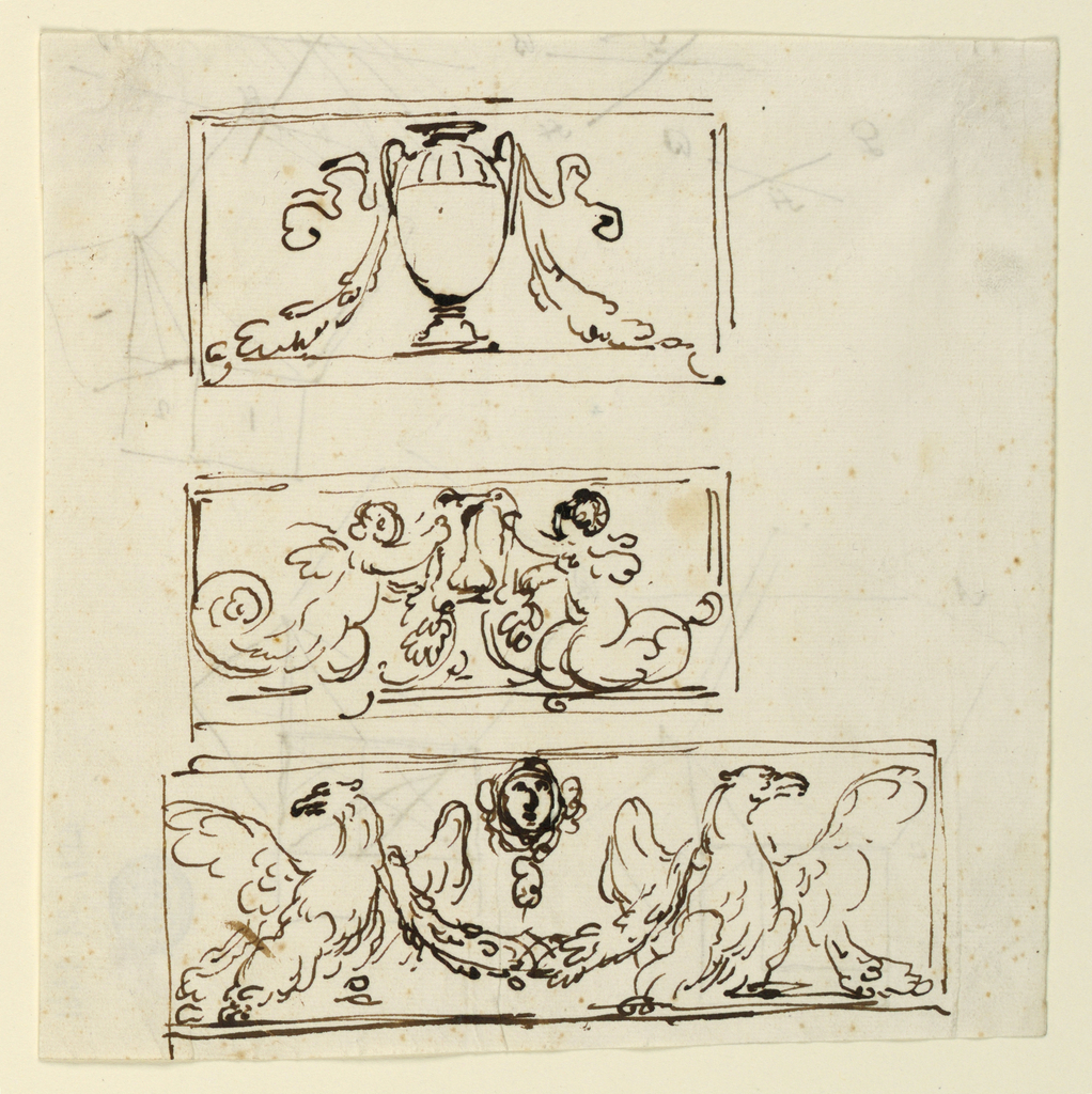 Drawing, Decoration of three friezes