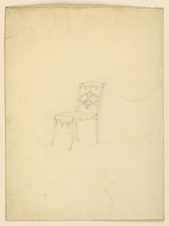 Drawing, Design for a chair, 1830