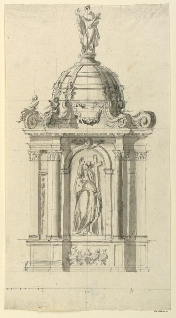 Drawing, Altar, 1775
