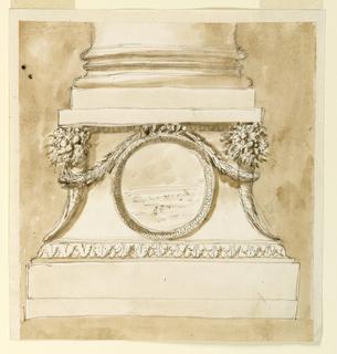 Drawing, Pedestal of a column