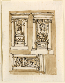 Drawing, Three tombs