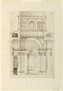 Interior architectural study of St. Peter's Basilica apse.
