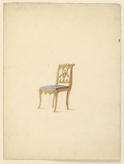 Drawing, Side Chair, 1830