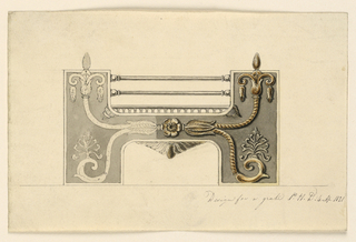 Drawing, Design for a grate, 1821
